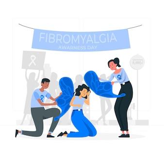 Ilustracja koncepcja dnia świadomości fibromialgii