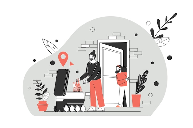 Ilustracja koncepcja dostawy zbliżeniowej