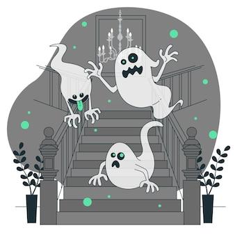 Ilustracja koncepcja duchów