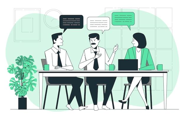 Ilustracja koncepcja dyskusji