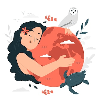 Ilustracja koncepcja dzień matki ziemi