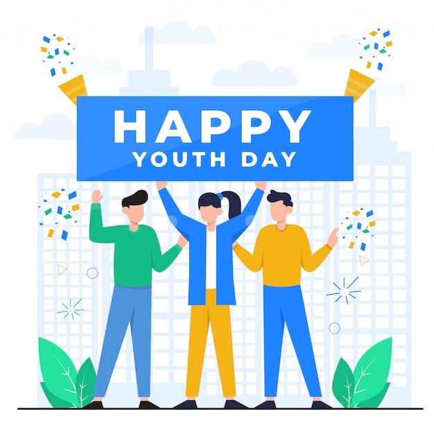 Ilustracja koncepcja dzień młodzieży