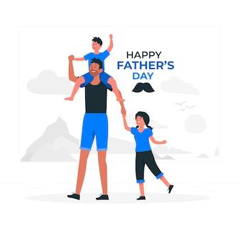 Ilustracja koncepcja dzień ojca