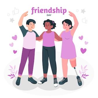 Ilustracja koncepcja dzień przyjaźni