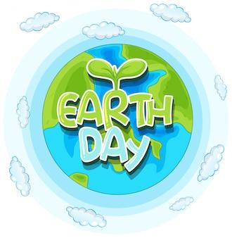 Ilustracja koncepcja dzień ziemi