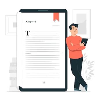 Ilustracja koncepcja ebook