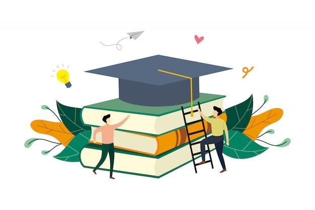 Ilustracja koncepcja edukacji sukces