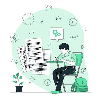 Ilustracja koncepcja egzaminów