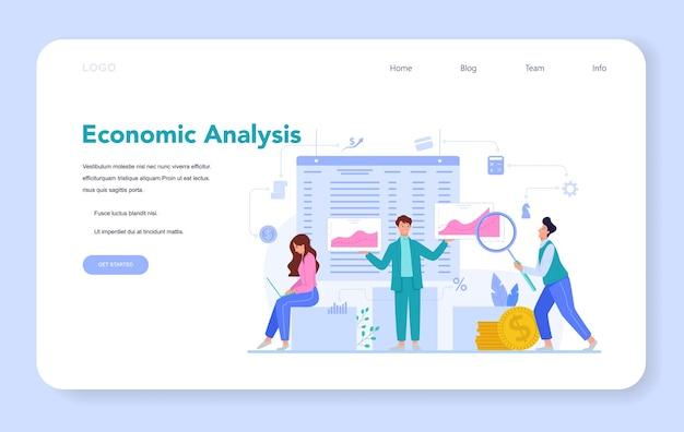 Ilustracja koncepcja ekonomistów w stylu cartoon