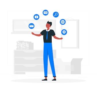 Ilustracja koncepcja ekspertów