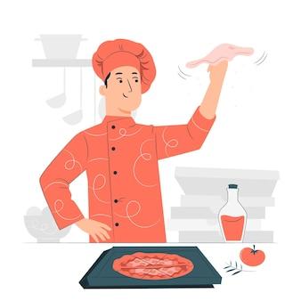 Ilustracja koncepcja ekspres do pizzy