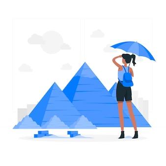 Ilustracja koncepcja el kair