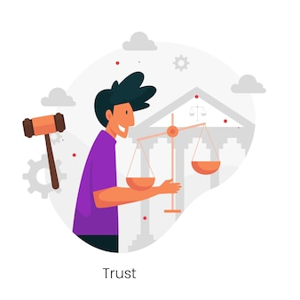 Ilustracja koncepcja etyki biznesu