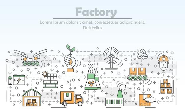 Ilustracja koncepcja fabryki