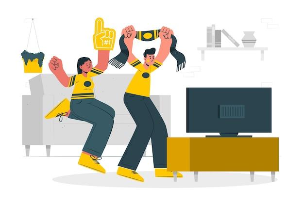 Ilustracja koncepcja fanów