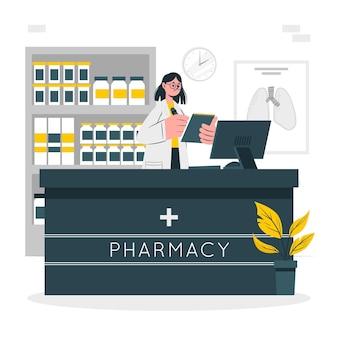 Ilustracja koncepcja farmaceuty