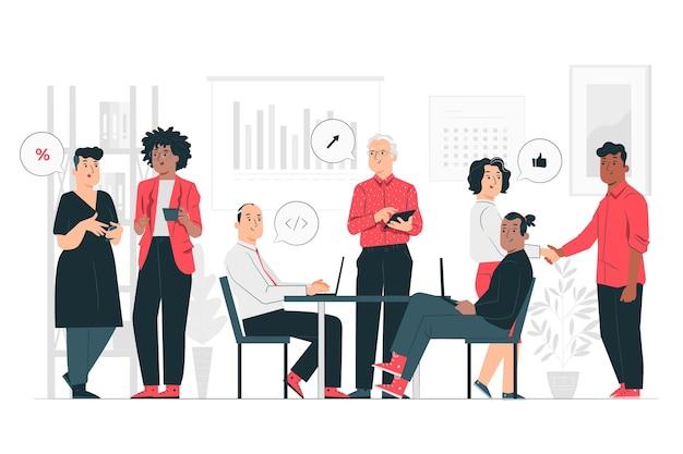 Ilustracja koncepcja firmy