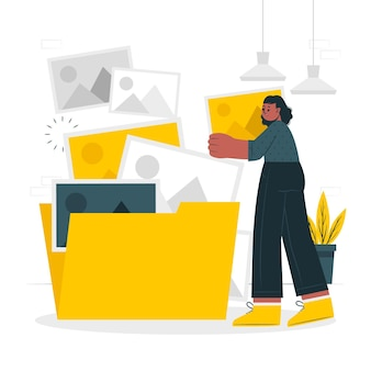 Ilustracja koncepcja folderu obrazu
