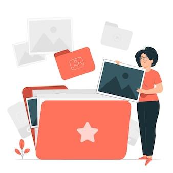 Ilustracja koncepcja folderu