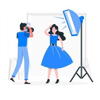 Ilustracja koncepcja fotograf studio
