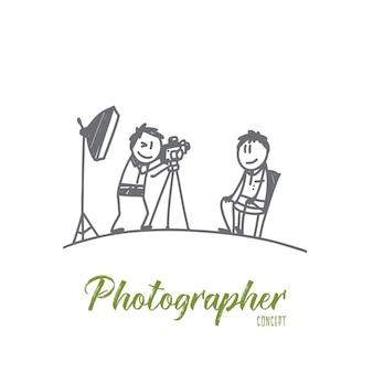 Ilustracja koncepcja fotografa