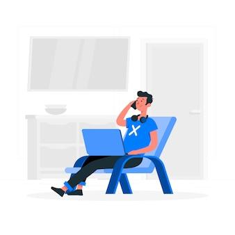 Ilustracja koncepcja freelancer