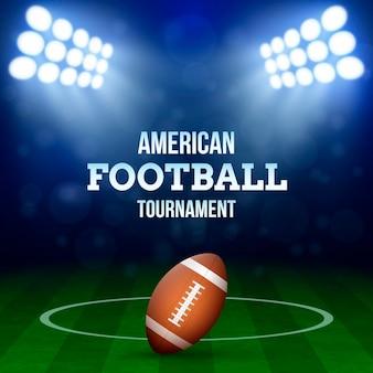 Ilustracja koncepcja futbolu amerykańskiego