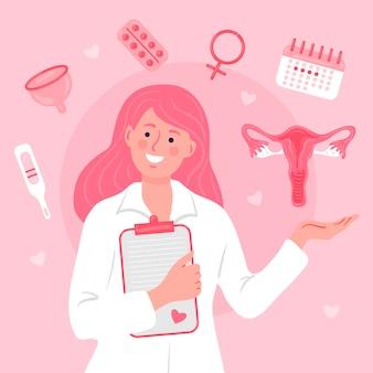 Ilustracja koncepcja ginekologii