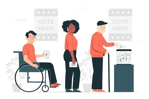 Ilustracja koncepcja głosowania