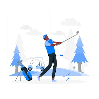 Ilustracja koncepcja golfa