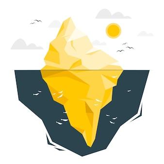Ilustracja koncepcja góry lodowej