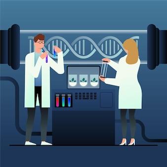 Ilustracja koncepcja gradientu biotechnologii