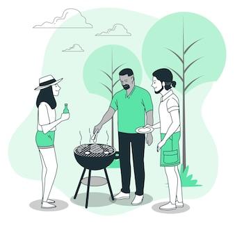 Ilustracja koncepcja grilla