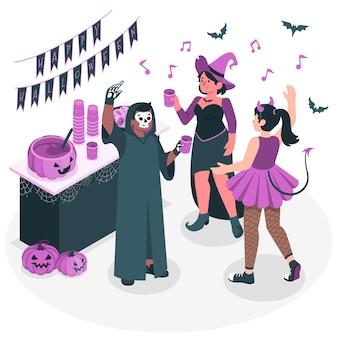 Ilustracja koncepcja halloween party