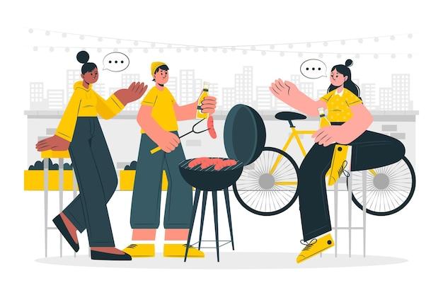 Ilustracja koncepcja imprezy na świeżym powietrzu