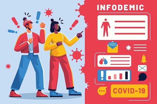 Ilustracja koncepcja infodemic