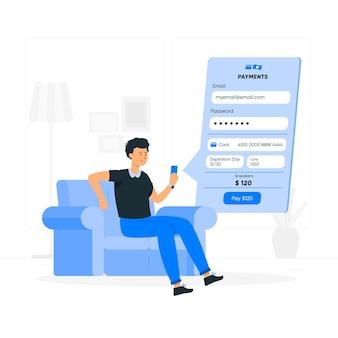 Ilustracja koncepcja informacji o płatnościach