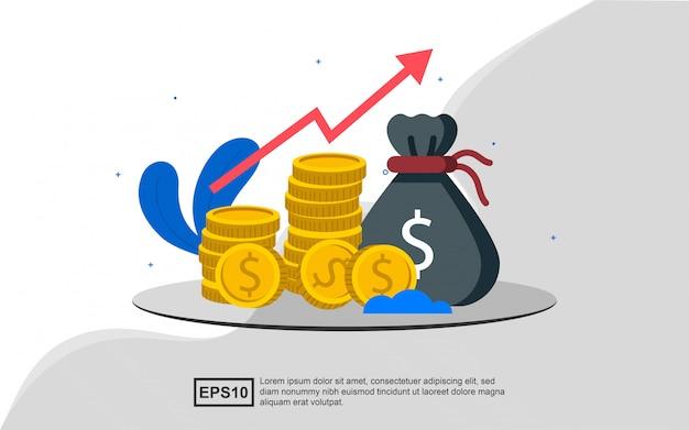 Ilustracja koncepcja inwestycji finansowych.
