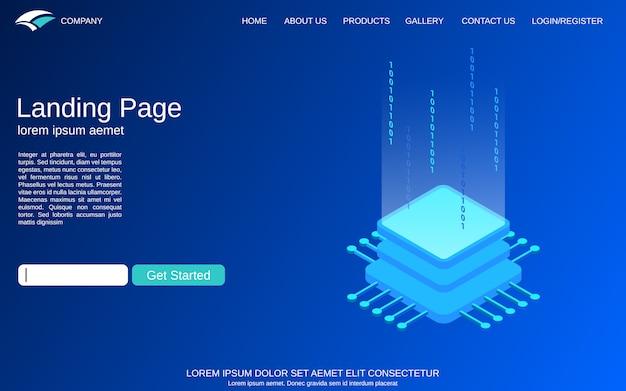 Ilustracja koncepcja izometryczne technologii cyfrowej