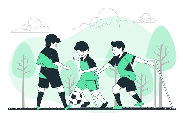 Ilustracja koncepcja junior piłki nożnej