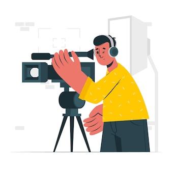 Ilustracja koncepcja kamerzysty