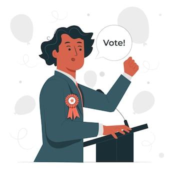 Ilustracja koncepcja kandydata politycznego