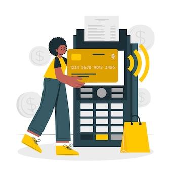 Ilustracja koncepcja karty kredytowej