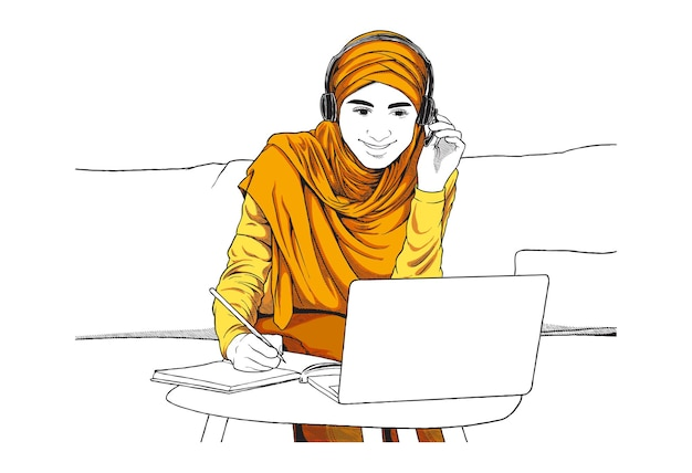 Ilustracja koncepcja klasy online
