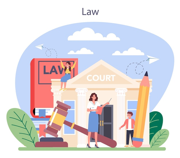Ilustracja koncepcja klasy prawa