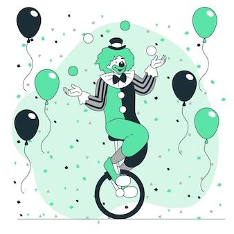 Ilustracja koncepcja klauna