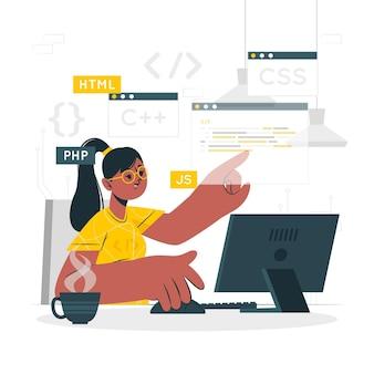 Ilustracja koncepcja kodowania