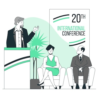 Ilustracja koncepcja konferencji