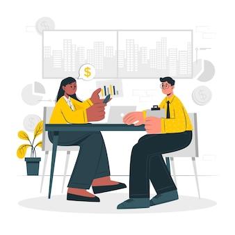 Ilustracja koncepcja konsultacji