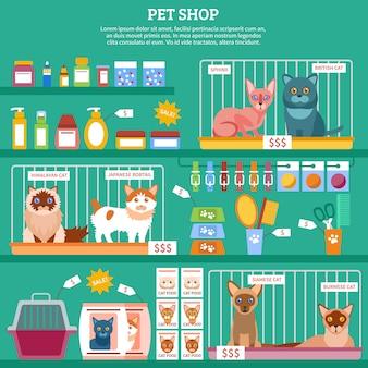 Ilustracja koncepcja kotów